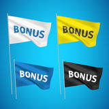 Bonification - 4 drapeaux de vecteur Photos libres de droits