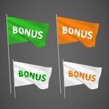 Bonification - 4 drapeaux de vecteur Photographie stock libre de droits