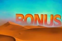 Bonification s'élevant dans les dunes de désert Images stock