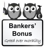 Bonifications de banquiers illustration de vecteur