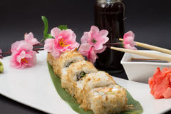 Bonita sushi roll Stock Images