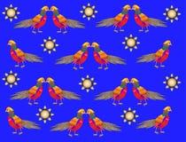Bonito, brilhante, pássaro, fundo do ornamento Fotos de Stock