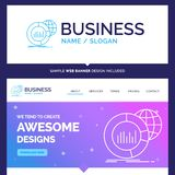 Bonito conceito do negócio marca grande, carta, dados, mundo, i ilustração royalty free