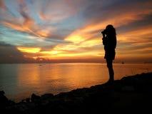 _Bonito 001 do por do sol Imagens de Stock