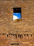 Bonito do povoado indígeno na garganta de Chaco, nanômetro, EUA fotos de stock