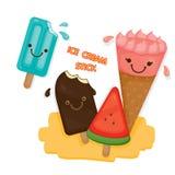 Bonito gelado para o verão Fotografia de Stock