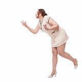 Bonito mais o desejo da mulher do tamanho para algo Fotografia de Stock