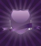 Bonito party brilhantemente o emblema do protetor com fita ilustração royalty free