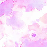 Bonito pastel roxo do rosa abstrato da aquarela do papel da textura do fundo Imagem de Stock