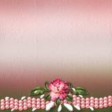 Bonito pintado aumentou no fundo abstrato Imagens de Stock Royalty Free