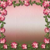 Bonito pintado aumentou no fundo abstrato para felicitações Fotos de Stock Royalty Free