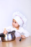 Bonito pouco cozinheiro Foto de Stock Royalty Free