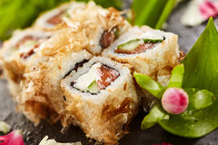 Bonito Sushi Rolls Stock Photography