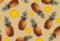 Bonjour été Ananas frais Images stock