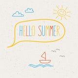 Bonjour été, calibre pour la conception d'été Images libres de droits