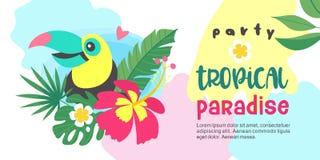 Bonjour été Paradis tropical de partie Illustration de vecteur, invi Images libres de droits