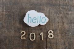 Bonjour 2018 photographie stock libre de droits