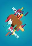 Bonjour affiche d'été Image libre de droits