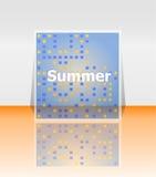 Bonjour affiche d'été Fond d'été Effectue l'affiche, cadre Bonnes fêtes carte, carte de vacances heureuse Appréciez votre été Photographie stock libre de droits