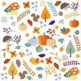 Bonjour automne Autumn Leaves Background illustration de vecteur