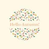 Bonjour autumn-1 Image stock