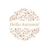 Bonjour autumn-2 Photographie stock libre de droits