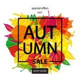 Bonjour Autumn Sale Images libres de droits
