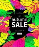 Bonjour Autumn Sale Image libre de droits