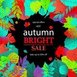 Bonjour Autumn Sale Photo libre de droits