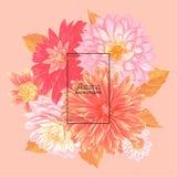Bonjour Autumn Watercolor Floral Design avec la feuille d'érable Bannière saisonnière d'automne, affiche, copie, vente, calibre d Photographie stock