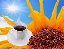 Bonjour avec une tasse de café photos libres de droits