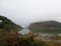 Bonjour brouillard le dernier jour images stock
