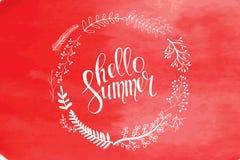 Bonjour carte d'été dans le vecteur Photos stock