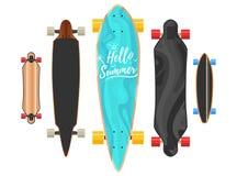 Bonjour concept de Longboard d'été Photographie stock libre de droits