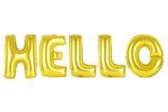 Bonjour, couleur d'or Images stock