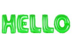 Bonjour, couleur verte Photo stock