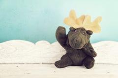 Bonjour de ondulation de jouet de cerfs communs d'orignaux Photographie stock