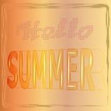 Bonjour fond d'été avec les lettres dans le style 3d, vecteur, illustration Images stock