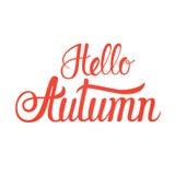 Bonjour fond de blanc d'Autumn Fall Text Banner Over Photo stock