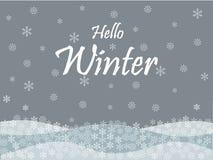 Bonjour fond de saison des vacances d'hiver illustration libre de droits