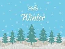 Bonjour fond de saison des vacances d'hiver illustration de vecteur