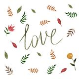 Bonjour french sign with nature leaf ornamen Stock Images
