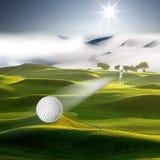 Bonjour, jouons au golf photographie stock libre de droits