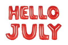 Bonjour juillet, couleur rouge Image stock