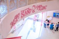 Bonjour Kitty Island, une des taches de touristes de les plus populaires en octobre Photographie stock