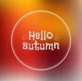 Bonjour, l'automne a brouillé le fond Images stock