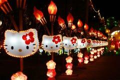 Bonjour lanterne de minou Photo libre de droits