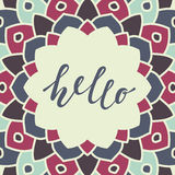 Bonjour lettrage Images stock