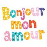 Bonjour måndag kärleksaffär Arkivbild