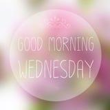 Bonjour mercredi Image libre de droits